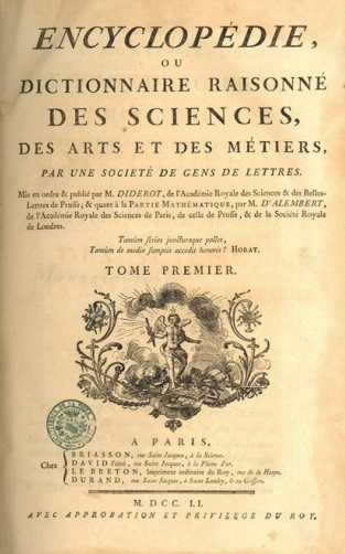 couverture encyclopédie Diderot
