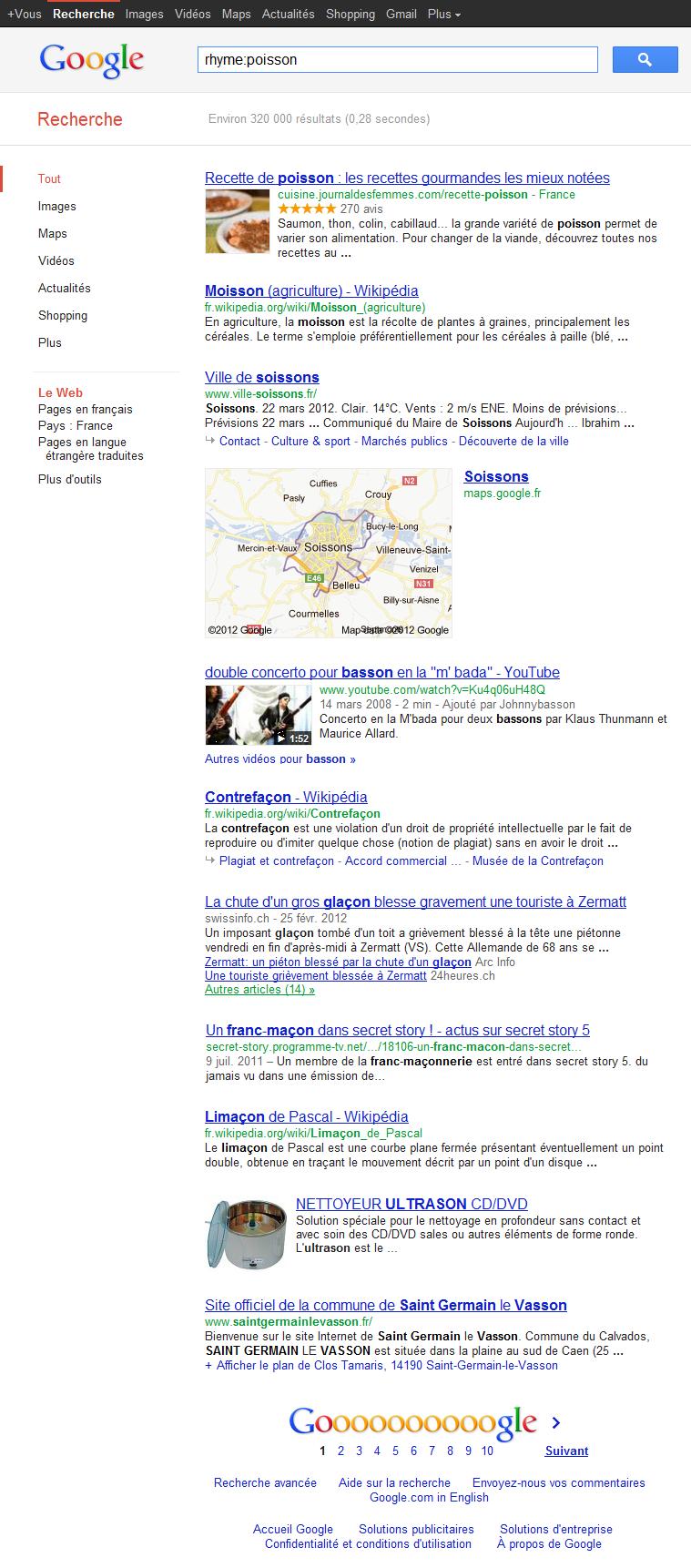 Google Rime exemple 1