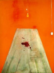 Du sang sur le plancher