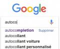 AUTOCOMPLÉTION