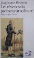 Couverture du livre Les rêveries du promeneur solitaire